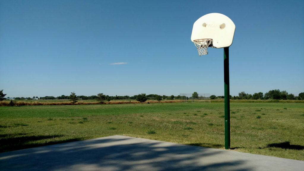 Westover Family Ranch Basketball Court